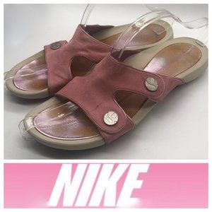 Nike Lab G Series Sandals Slides Sz 9 Pink Leather